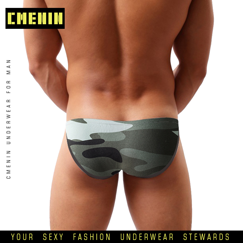 Sexy Underwear Men Briefs Men Bikini Gay Men Underwear Breathable Male Panties Men's Cotton Underpant Camouflage Jockstrap AD310