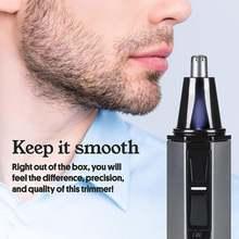 Триммер для волос в носу безопасный уход за лицом Бритье мужчин
