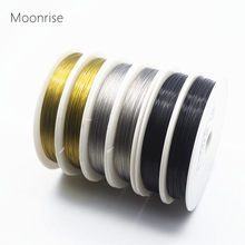 Fio de contas revestido, 30m/rolo tom prata 0.3/0.35/0.45/0.5/0.6mm fio de aço tigre cauda para a busca da jóia