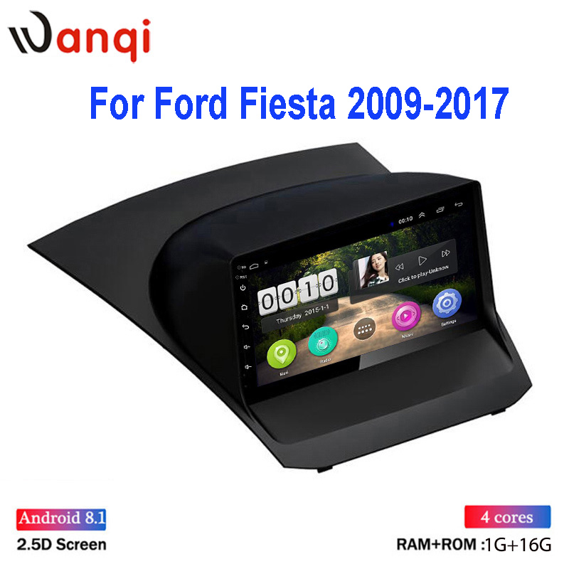 Hot Sale IPS 2.5D 9 Inch HD Touch Screen Android 8.1 Car DVD Player For Ford Fiesta 2009-2017 Multimedia Navigation Car Radio