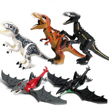 legoingly Jurassic World Park Raptor Dinosaurs Spinosaurus Indoraptor Figures Building Blocks Bricks Toys For Children Gift