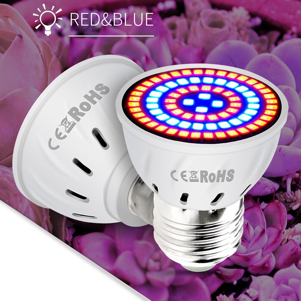 E27 LED Grow Light Full Spectrum 220V E14 Growing Lamps GU5.3 Growth Bulb GU10 Phyto-Lamp For Plants Flower Seedling Cultivation