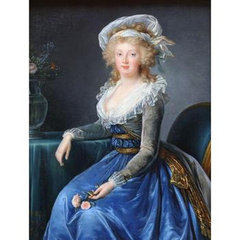 Christmas Gift art on Canvas Maria Theresa of Naples and Sicily by Elisabeth Vigee Lebrun Painting High Quality Handmade