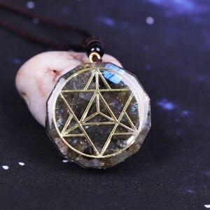 Image 3 - Orgonite pendentif en cristal énergétique Labradorite, Reiki, collier avec les pierres de Chakra, pendentif en cristal Aura, élimine lénergie négative