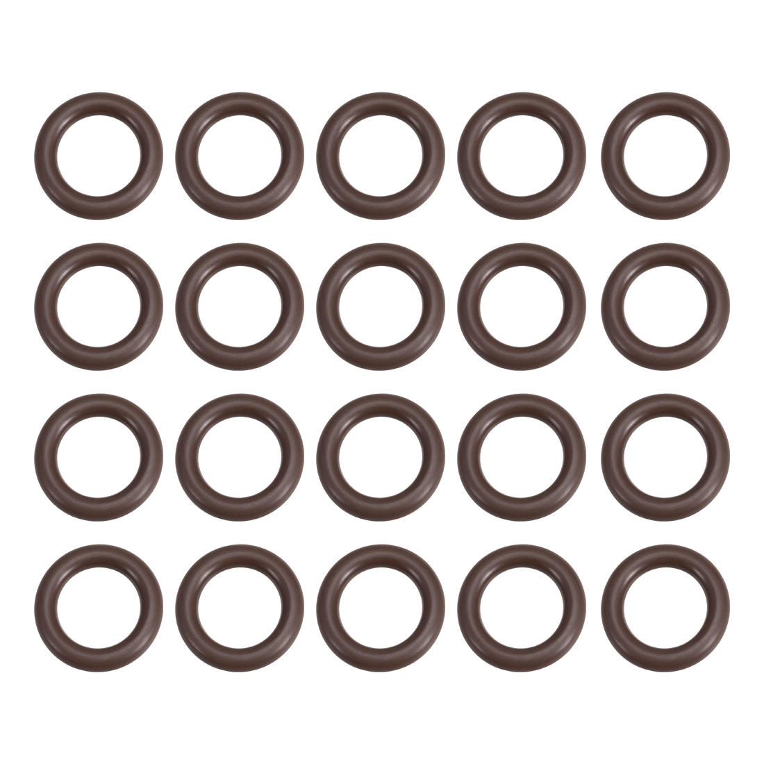 uxcell 10 Pcs Fluororubber Gasket Sanitary Tri Clamp Washer 24mm x 14mm O-Ring