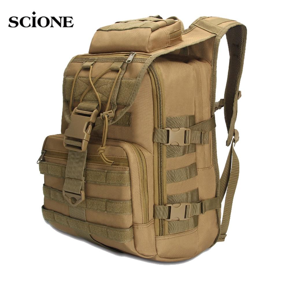 Tactical Backpack Men Military Rucksack Oxford Army Bag Camping Hiking Fishing Hunting Bags  Camo Outdoor Sports Sack XA992WA