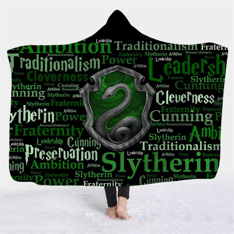 Movie Magic School Hogwarts Cloak Cosplay Costumes Gryffindor Hufflepuff Ravenclaw Slytherin Hood Blanket House Wrap Adult Kids image