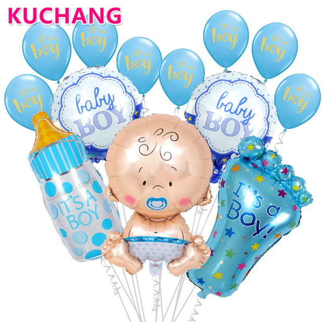1 Set Baby Shower Birthday Party Large Nipple Baby Bottle Feet Balloon Helium