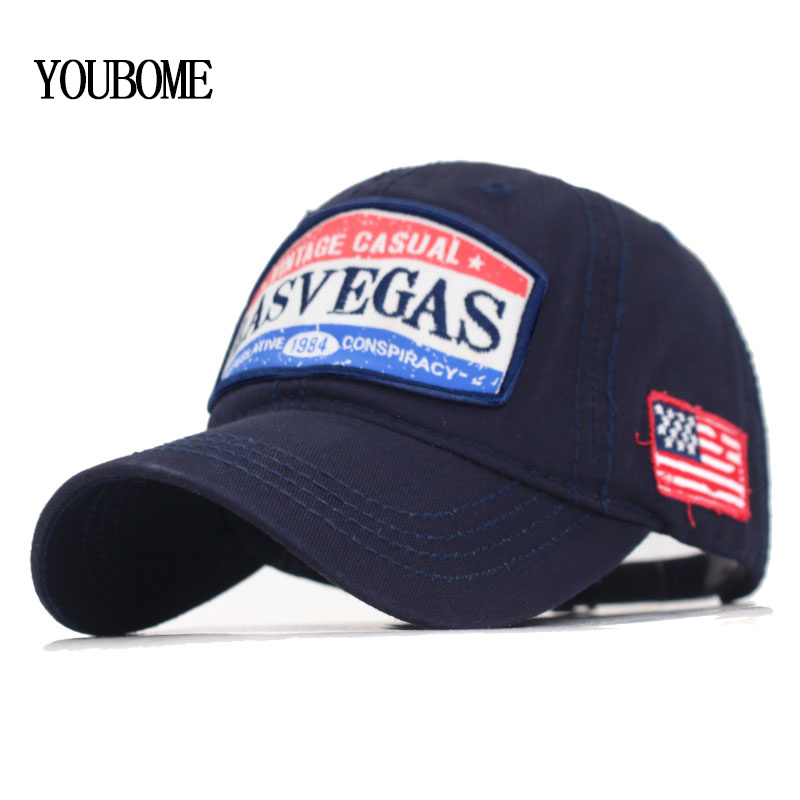 Brand <font><b>Lasvegas</b></font> Gorras Women Baseball Cap Men Snapback Caps Hats For Men Casquette Bone USA Letter Male Dad Baseball Hat Cap 2020 image