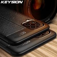 KEYSION-funda a prueba de golpes para Samsung M62, M51, M31S, M31, funda trasera de silicona suave con textura de cuero de lujo para Galaxy F62, F41