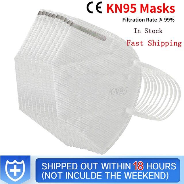 KN95 Mask 5 Layer Flu Anti Infection N95 Protective Masks ffp2 Respirator PM2.5 Safety Same As KF94