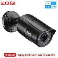 ZOSI 960H 1080P CVBS AHD TVI CVI Sensor CMOS de bala vídeo CCTV analógico de 3,6mm casa HD Mini cámara de vigilancia de seguridad impermeable