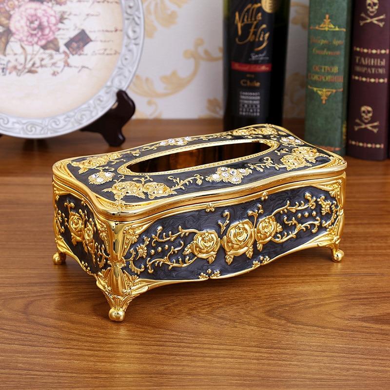 Кухонные держатели для салфеток, классическая коробка для салфеток, контейнер из акрила для ванной, кухонный инструмент, аксессуары для украшения дома - Цвет: black