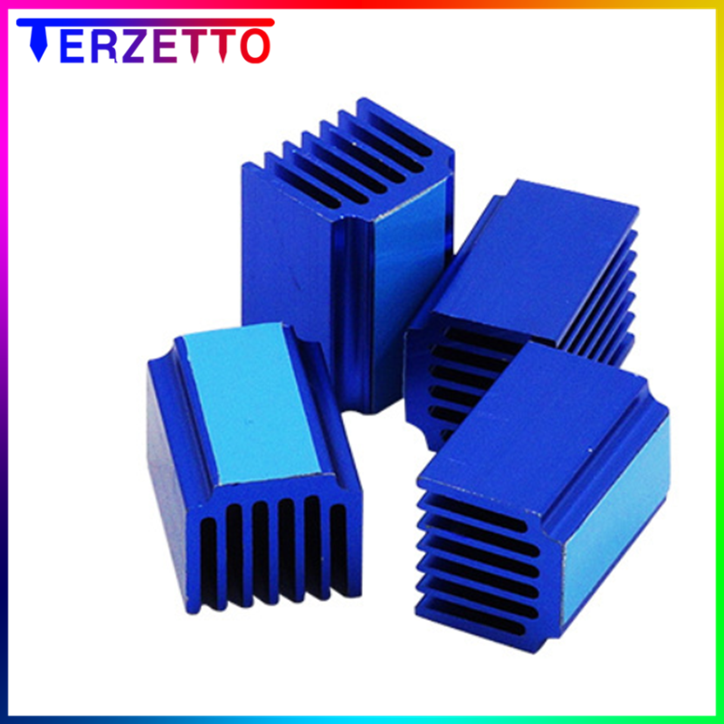 Cooler Heat Sink Cooling TMC2130 TMC2100 A4988 DRV8825 Stepper Module 9x9x12mm Befenybay 20PCS Blue 3D Printer Parts Driver Heat Sink Aluminum Heatsinks Kit 3M Thermal Conductive Adhesive Tape