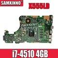 X555LD GT820M i7-4510 4 Гб RAM материнская плата для ноутбука ASUS X555LI X555LF F555L K555L X555LD X555LN rev3.1/3 0/1 1/2 0 материнская плата