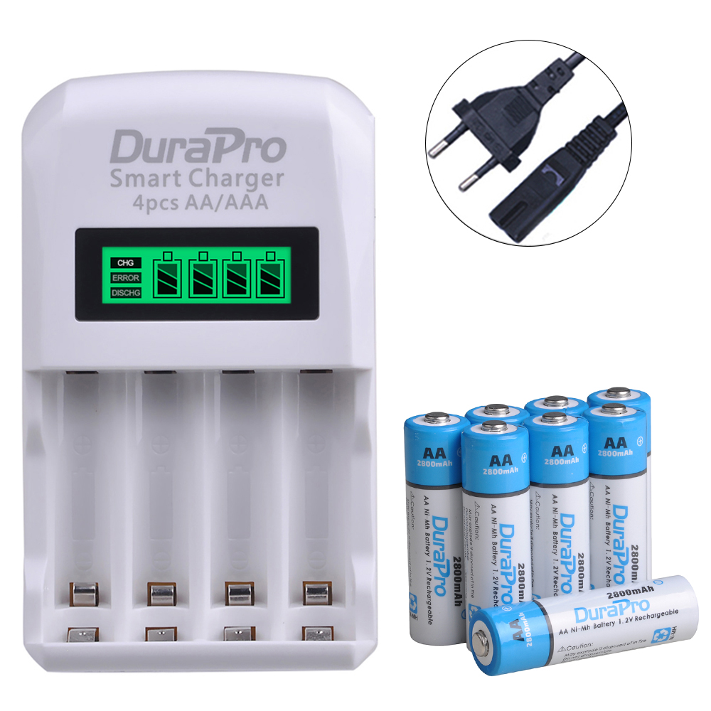 <font><b>AA</b></font> AAA Ni-MH Ni-Cd Rechargeable <font><b>Battery</b></font> <font><b>Charger</b></font> <font><b>Set</b></font> for <font><b>aa</b></font> aaa Calculator MP3 Player,Remote control,Toys,audio player,Camera image