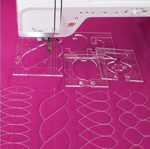 Image 1 - 재봉틀을위한 새로운 통치자 국경 샘플러 템플릿은 아름다운 테두리를 만들 수 있습니다 1 set = 4pcs # RL 04W