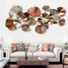 European Home Living Room Back Wall Stereo Wall Decoration Creative Old Ginkgo Leaf Wall Decoration Decorative Wall Decoration