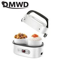 DMWD Мини электрическая рисоварка 1Л портативный керамический вкладыш мультикатор умная герметичная коробка для завтрака подогреватель еды яичный котел пароварка