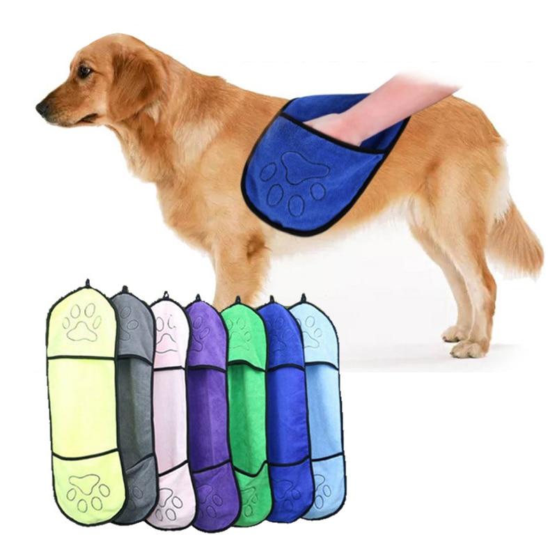 New Home Powerful Absorbent Bath Towel Dog Bathrobe Cat Bathing Pet Supplies Double Bag Microfiber Pet Towel J8A5346