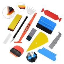 EHDIS vinyle emballage Film outils Kit teinte de fenêtre en Fiber de carbone décalcomanie couteau Cutter voiture emballage autocollant caoutchouc grattoir aimant raclette