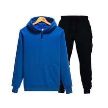 2019 einfarbig hoodie sweatshirt männer/frauen sportswear sport anzug + jogginghose wolle mit kapuze pul