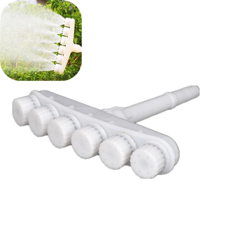 6-Head Agricultural Watering Vegetable Sprinkler Atomizing Nozzle Garden Watering Sprinkler Micro Irrigation Fittings
