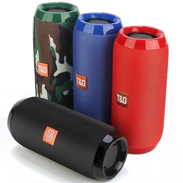 Portable Bluetooth-compatible Speaker Wireless Bass Column Waterproof Outdoor USB Speakers Support AUX TF Subwoofer Loudspeaker 1
