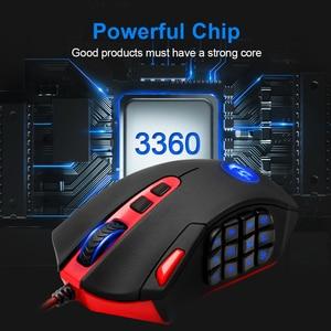 Image 5 - Redragon perdition m901 usb wired gaming mouse 24000 dpi 19 botões do jogo programável ratos backlight ergonômico computador portátil