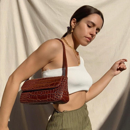 Leather Shoulder Bags For Women Handbag Vintage Ladies Totes Medieval Retro Armpit Bag Female Clutch Bag Women Bolso