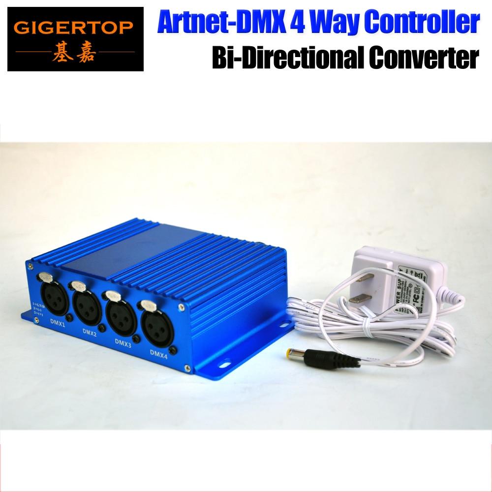 TIPTOP TP-D16 ArtNet-DMX4/8 Stage Light ArtNet/DMX Bi-Directional CONVERTER New Design 4 Female DMX Connector ARM Processor
