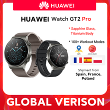 CODE:FASTMAY18 200€-18 off In lager Globale Version HUAWEI Uhr GT 2 pro SmartWatch 14 tage Batterie Lebensdauer GPS Drahtlose Lade Kirin A1 GT2 pro