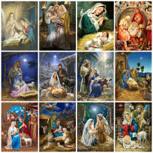 5d Diamond Painting Full Square/Round Religion Cross Stitch Diamond Embroidery Sale Virgin Mary Rhinestones Art Hobby Gift(China)