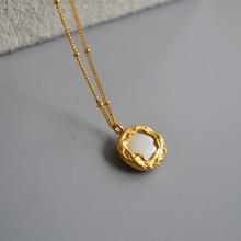 HUANZHI 2019 New Vintage Elegant Freshwater Pearl Inlaid Met