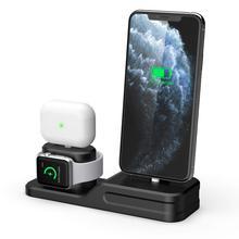 3 In 1 Opladen Dock Houder Voor Iphone 11/11 Pro Iphone Xs Siliconen Charging Stand Station Voor Apple Horloge Airpods/Airpods Pro