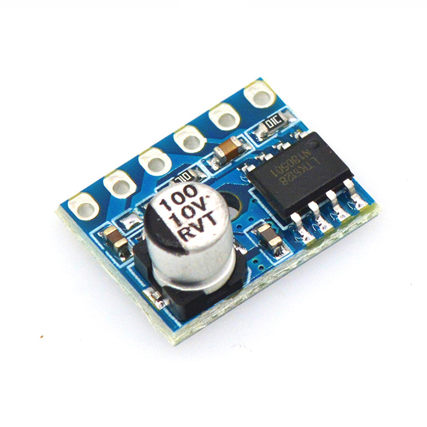 5128 Mini Class D Module Digital Amplifier Board DC 2.5-5.5V Single Channel 5W Audio Power Amplifier, Low Distortion Low Noise