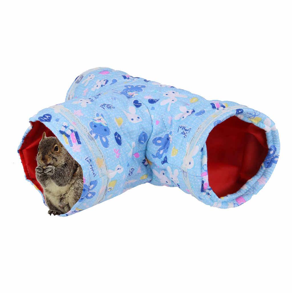 작은 동물 접을 수있는 애완 동물 장난감 놀이 터널 햄스터 기니 돼지 친칠라 토끼 흰 족제비 기니 돼지 고양이 터널 재미