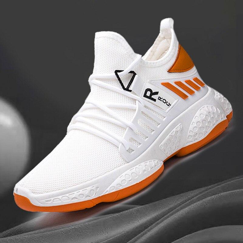 New Men Casual Shoes Fashion Sneakers Men Flat Trend Comfort Shoes Men Breathable Mesh Outdoor Running Shoes Tzapatos De Hombre