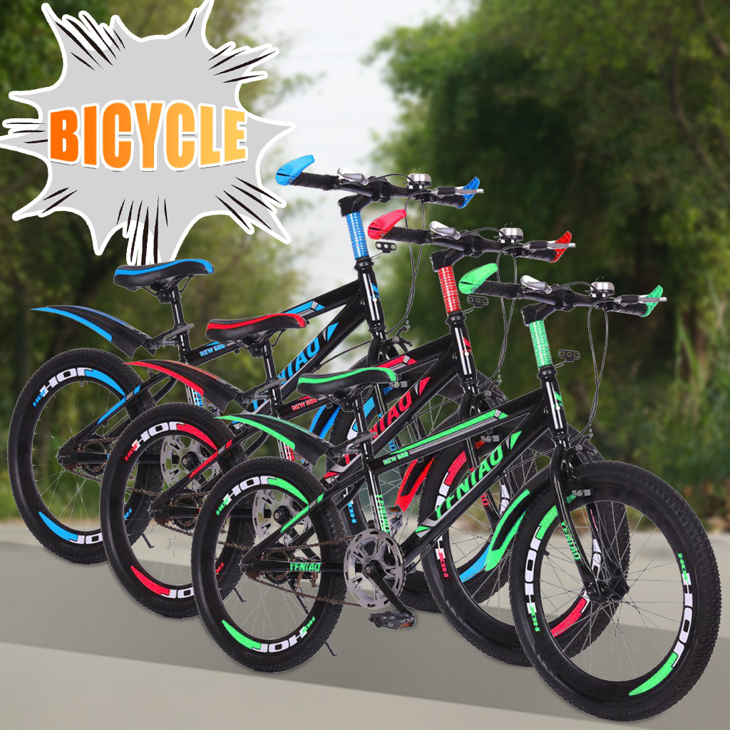Outdoor Bike Folding Fariable Speed Bicycle Female Male Adult Student Ultra Light Portable Cross Country Bicycle Student <font><b>Bmx</b></font> JG3 image