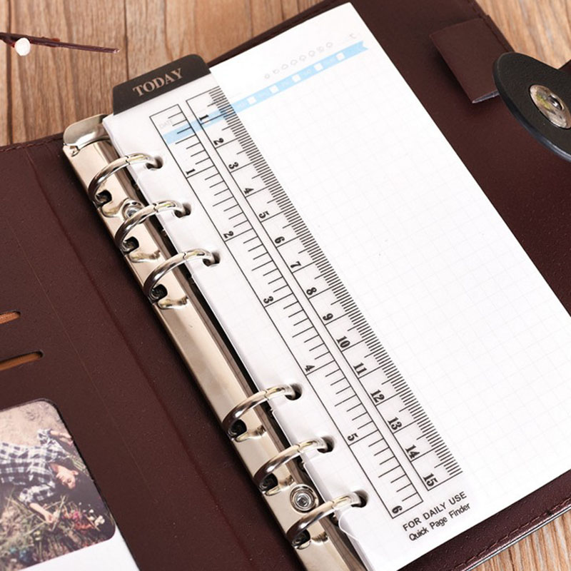 1 Pcs Hot Sale Transparent Ruler For Notebook A5 A6 TODAY PVC Bookmark Ruler Cute Korean Stationery