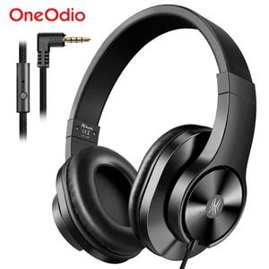 Image 1 - Oneodio T3 Verdrahtete Kopfhörer Über Ohr Headset Mit Mikrofon Stereo Bass Kopfhörer Einstellbar Kopfhörer Für Handy