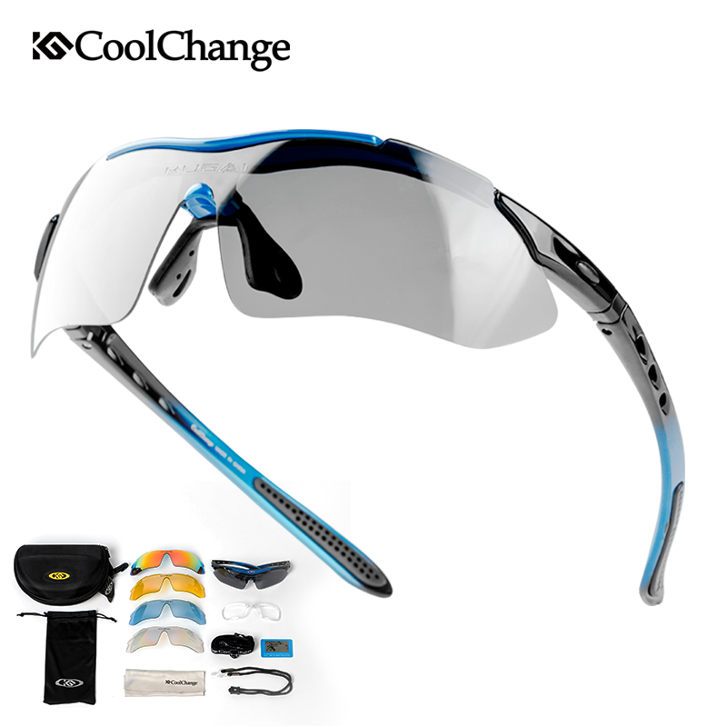 CoolChange Cycling Glasses Sport Man Woman Protective Sunglasses UV400 Road Bike Running Polarized Eyewear Mtb Bicycle Goggles