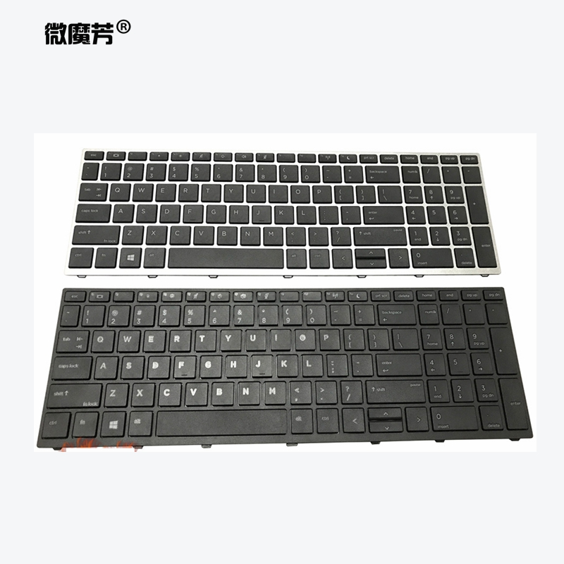 New US/SP/UK Laptop Keyboard For HP Probook 450 G5 455 G5 470 G5 English Black Keyboard Backlit