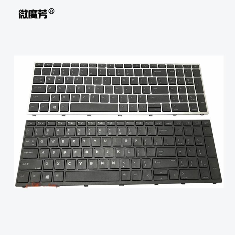 New US/SP/UK Laptop Keyboard For HP Probook 450 G5 455 G5 470 G5 English Black Keyboard Backlit