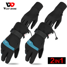 Cycling-Glove Sport-Gloves Touch-Screen Motorcycle Warm Winter Waterproof 3M And WEST