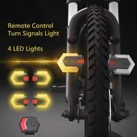 Fahrrad Licht Vorne und Hinten Licht Fahrrad Blinker Licht Fernbedienung Wireless Control MTB Bike Rücklicht Radfahren Sicherheit Warnung lichter