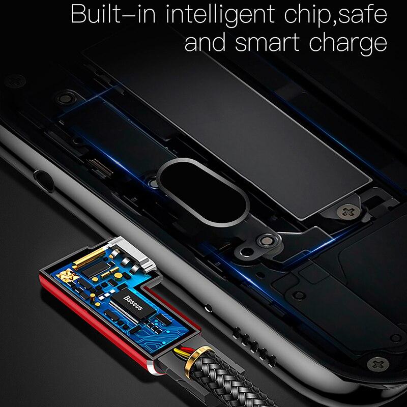 Baseus usb type C кабель 90 градусов USB C зарядное устройство Шнур Быстрая зарядка type-c кабель для samsung Xiaomi huawei кабели для мобильных телефонов