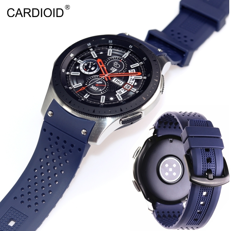 Image 3 - New style high end 22mm silicone strap bracelet bracelet for Samsung Gear S3 S4 Galaxy Watch 46mm watch strap watchbands-in Watchbands from Watches