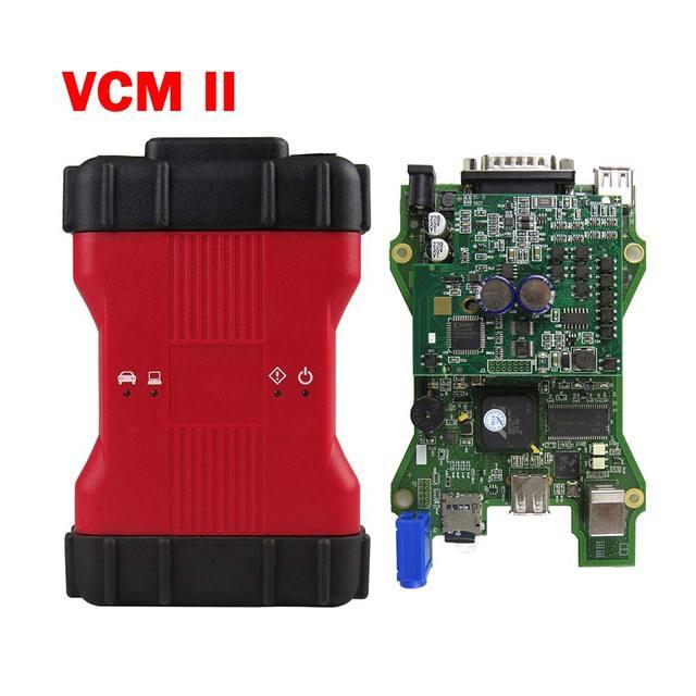 Alta qualidade completa chip vcm2 para f ord obdii carro ferramenta de diagnóstico vcmii suporte veículos ids vcm ii