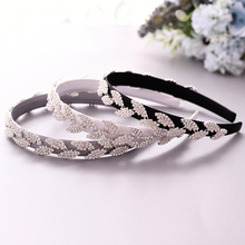 TRiXY S198-FG Vintage Women Hair Accessories Rhinestone Hairband Baroque Headband Bridal Tiara Thin Headband Baroque Hair Hoop
